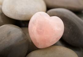 Rose-heart-stone-on-other-stones
